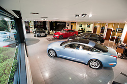 Hatfields Jaguar Sharrowvale Road Sheffield Newly Refurbished Showroom ..10 January 2010.Images © Paul David Drabble