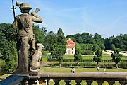 Schloss Moritzburg, Schlosspark, Sachsen, Deutschland.|.Moritzburg Castle, park, Saxony, Germany.