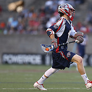 Will Manny #1 of the Boston Cannons controls the ball during the game at Harvard Stadium on May 17, 2014 in Boston, Massachuttes. (Photo by Elan Kawesch)
