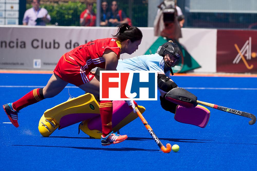 RIO 2016 Olympic qualification, Hockey, Women, quarterfinal, Ireland vs China : Ayeisha McFerran stops a goal