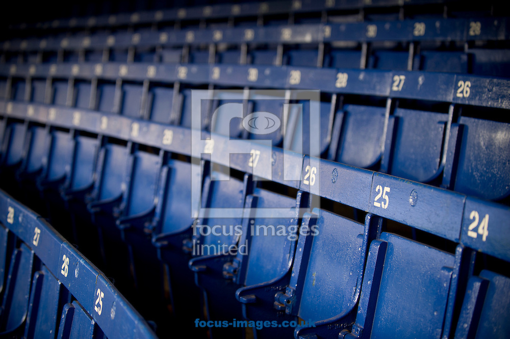 A general view of the seats of the Lower Bullens stand before UEFA Europa League match at Goodison Park, Liverpool<br /> Picture by Russell Hart/Focus Images Ltd 07791 688 420<br /> 17/09/2014