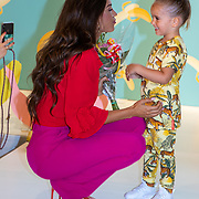 NLD/Amststelveen/20190619 Modeshow kledinglijn Yolathe Cabau van kasbergen genaamd  Bananas&Bananas, met kindmodel