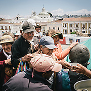 A food drive in Quito, Ecuador