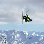 Nicholas Goepper, USA, in action during the Freeski Slopestyle Men's Final at Snow Park, New Zealand during the Winter Games. Wanaka, New Zealand, 18th August 2011. Photo Tim Clayton