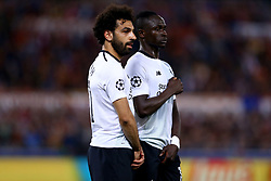 May 2, 2018 - Rome, Lazio, Italy - AS Roma v FC Liverpool - Champions League semi-final second leg.Mohamed Salah and Sadio Mane of Liverpool at Olimpico Stadium in Rome, Italy on May 02, 2018. (Credit Image: © Matteo Ciambelli/NurPhoto via ZUMA Press)