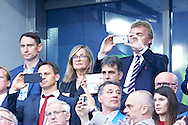 Paris, France - 2016 June 10: (R) Zbigniew Boniek President of Polish Football Associaton shoots pictures by his mobile while opening ceremony during France v Romania match while Soccer European Championships UEFA EURO 2016 at Stade de France on June 10, 2016 in Paris, France.<br /> <br /> Adam Nurkiewicz declares that he has no rights to the image of people at the photographs of his authorship.<br /> <br /> Picture also available in RAW (NEF) or TIFF format on special request.<br /> <br /> Any editorial, commercial or promotional use requires written permission from the author of image.<br /> <br /> Mandatory credit:<br /> Photo by © Adam Nurkiewicz