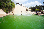 Natal_RN, Brasil...Escorregador de areia nas dunas no litoral norte. ..The sand slide on the dunes in north coast...Foto: LEO DRUMOND / NITRO