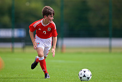NEWPORT, WALES - Wednesday, July 25, 2018: Jamie Whitworth during the Welsh Football Trust Cymru Cup 2018 at Dragon Park. (Pic by Paul Greenwood/Propaganda)