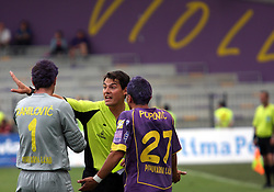 Marko Ranilovic, referee Roberto Ponis and Marko Popovic of Maribor at last football match of PrvaLiga Telekom Slovenije between NK Maribor and NK Interblock, when Maribor became a Slovenian National Champion, on May 23, 2009, in Ljudski vrt, Maribor. (Photo by Marjan Kelner/Sportida)