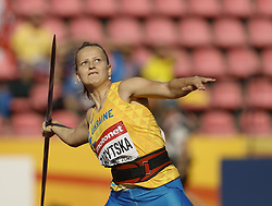July 10, 2018 - Tampere, Suomi Finland - 180710 Friidrott, Junior-VM, Dag 1: Oleksandra Zarytska UKR competes in XXX during the IAAF World U20 Championships day 1 at the Ratina stadion 10. July 2018 in Tampere, Finland. (Newspix24/Kalle Parkkinen) (Credit Image: © Kalle Parkkinen/Bildbyran via ZUMA Press)