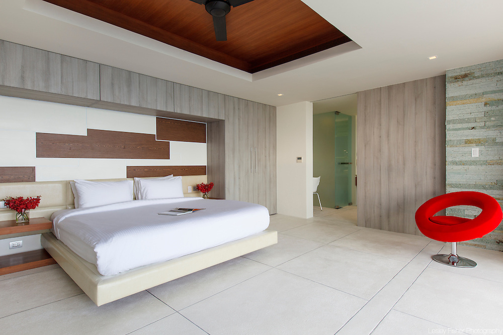 Double bedroom at Lime, luxury private, ocean view villas, Koh Samui, Surat Thani, Thailand