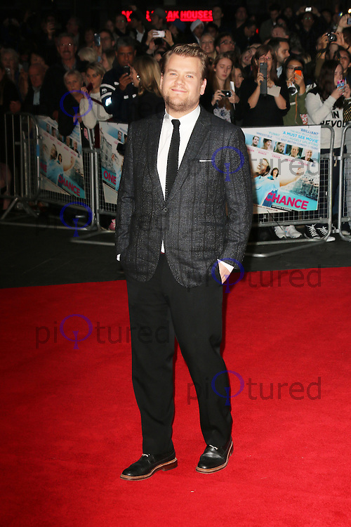James Corden, One Chance -  European film premiere, Odeon Leicester Square, London UK, 17 October 2013, Photo by Richard Goldschmidt