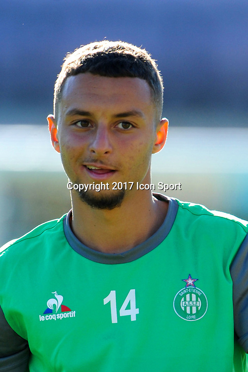 Rayan SOUICI of Saint Etienne during the Ligue 1 match between Troyes Estac and AS Saint Etienne at Stade de l'Aube on October 1, 2017 in Troyes, . (Photo by Anthony Dibon/Icon Sport)