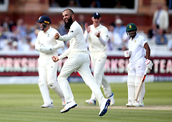 Moeen Ali of England celebrates taking the wicket of Temba Bavuma of South Africa - Mandatory by-line: Robbie Stephenson/JMP - 08/07/2017 - CRICKET - Lords - London, United Kingdom - England v South Africa - Investec Test Series