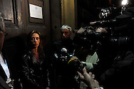 Roma 1 Novembre 2009.Conferenza stampa dopo la visita al  carcere di Regina Coeli del senatore Stefano Pedica dell'Italia dei Valori  dell'avvocato  Stefano Maranella e  Ilaria, la sorella di Stefano Cucchi, il geometra romano, di 31 anni, morto il 22 ottobre dopo un arresto per droga da parte dei Carabinieri..Rome, November 1, 2009.Press conference after visiting the prison of Regina Coeli  of the Senator Stefano Pedica Italy of Values, lawyer Stefano Maranella and Ilaria, the sister of Stephen Cucchi, the surveyor Roman, age 31, died October 22 after an arrest for drug by Police.