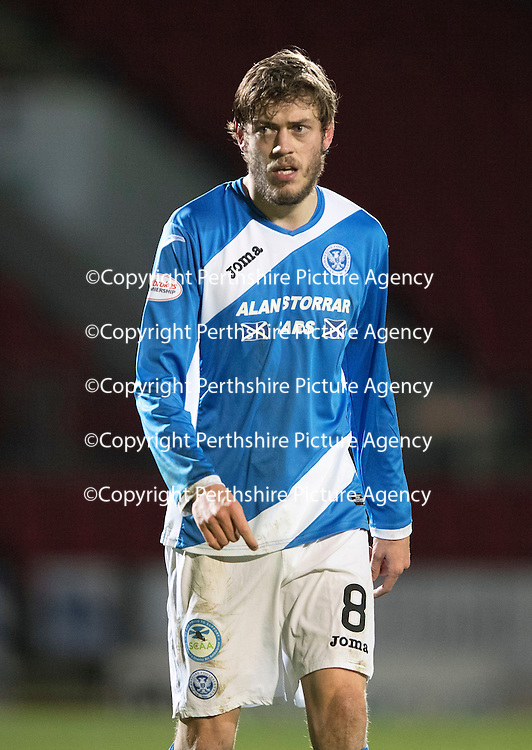 St Johnstone v Motherwell&Ouml;17.12.16     McDiarmid Park    SPFL<br /> Murray Davidson<br /> Picture by Graeme Hart.<br /> Copyright Perthshire Picture Agency<br /> Tel: 01738 623350  Mobile: 07990 594431