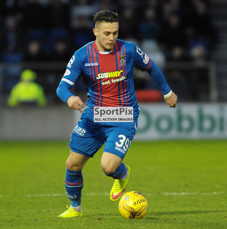 Miles Storey(ICT, Blue &amp; Red)<br /> <br /> Inverness Caledonian Thistle v Ross County, Ladbroke's Premiership, Saturday 2nd January 2016<br /> <br /> (c) Alex Todd | SportPix.org.uk