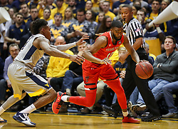Feb 26, 2018; Morgantown, WV, USA; Texas Tech Red Raiders guard Niem Stevenson (10) drives to the basket during the first half against the West Virginia Mountaineers at WVU Coliseum. Mandatory Credit: Ben Queen-USA TODAY Sports