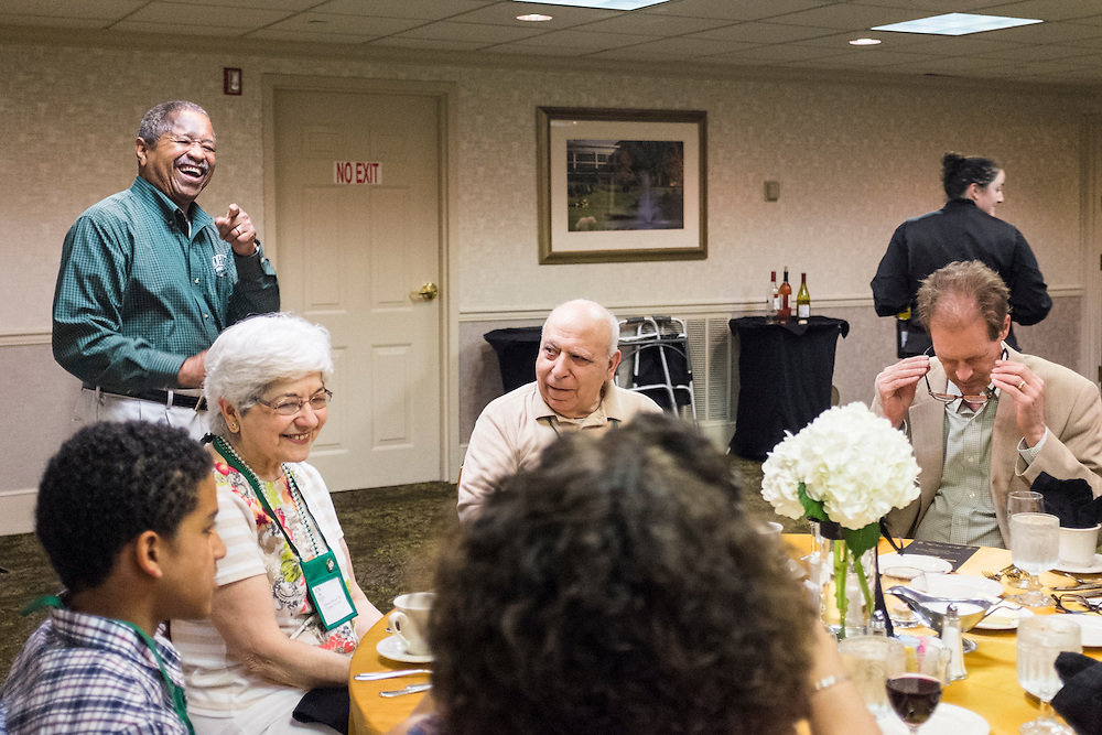 Alumni gathered at the Ohio University Inn on Saturday, May 30, 2015 for a Golden and Platinum anniversary dinner as a part of the On the Green Weekend.  Photo by Ohio University  /  Rob Hardin