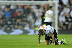 Jeff Hendrick of Derby County picks himself up from the ground - Mandatory byline: Dougie Allward/JMP - 07966386802 - 18/08/2015 - FOOTBALL - iPro Stadium -Derby,England - Derby County v Middlesbrough - Sky Bet Championship
