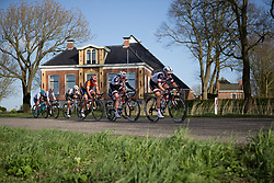Julia Soek (NED) of Team Sunweb digs deep in the penultimate lap of Stage 1b of the Healthy Ageing Tour - a 77.6 km road race, starting and finishing in Grijpskerk on April 5, 2017, in Groeningen, Netherlands.