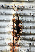 Rusty Corrugated Metal Siding