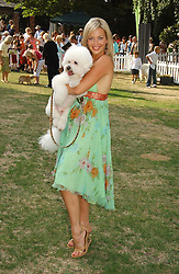 LIZ FULLER and Sally Farmiloe's dog Pasha at the Macmillan Cancer Support Dog Day held in the gardens of the Royal Hospital, Chelsea, London on 4th July 2006.<br /><br />NON EXCLUSIVE - WORLD RIGHTS