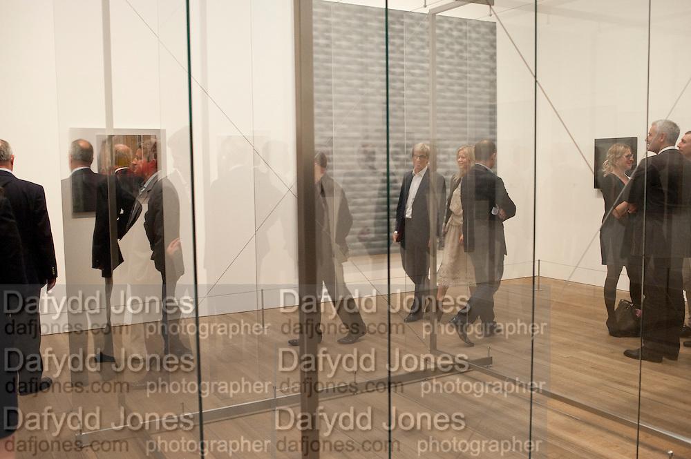 TIMOTHY TAYLOR; LADY HELEN TAYLOR GERHARD RICHTER EXHIBITION, Gerhard Richter: Panorama. Tate Modern. London. 4 October 2011. <br /> <br />  , -DO NOT ARCHIVE-© Copyright Photograph by Dafydd Jones. 248 Clapham Rd. London SW9 0PZ. Tel 0207 820 0771. www.dafjones.com.