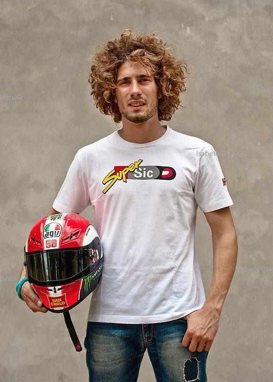 Marco Simoncelli, 24, campione di moto, Coriano Rimini, Italia, settembre 2011.