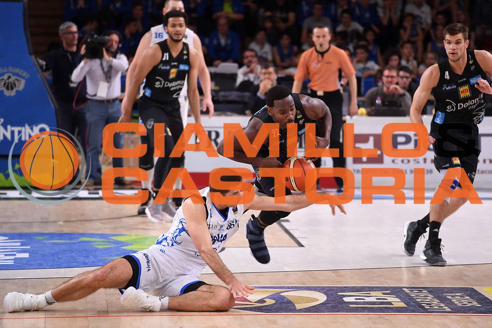 Dustin Hogue<br /> Dolomiti Energia Aquila Basket Trento - Happy Casa New Basket Brindisi<br /> LegaBasket Serie A 2017/2018<br /> Trento, 08/04/2018<br /> Foto M.Ceretti / Ciamillo - Castoria