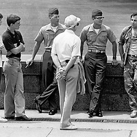 Four generations meet during an Agent Orange protest at the U.S. Capitol in Washington, DC on May 13, 1982.