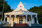 Little church in Nua, Tutuila island, American Samoa, South Pacific