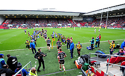 Bristol Rugby players take to the field  - Mandatory by-line: Joe Meredith/JMP - 26/02/2017 - RUGBY - Ashton Gate - Bristol, England - Bristol Rugby v Bath Rugby - Aviva Premiership