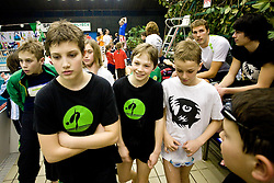 Timotej Zupancic, Timotej Masten, Andraz Omahen, Tobija Ponikvar and Tine Pecaver of PK Ilirija at Winter National Swimming championships of Slovenia for U11, on February 7, 2010 in Bazen Tivoli, Ljubljana, Slovenija. (Photo by Vid Ponikvar / Sportida)