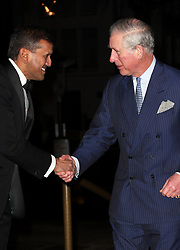 The Prince of Wales arriving at a reception for the  British Asian Trust at the Victoria and Albert Museum in London, Wednesday, 5th February 2014. Picture by Stephen Lock / i-Images
