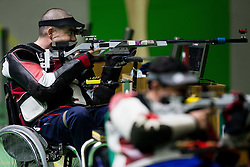 Laslo Suranji of Serbia during Final of R7 - Men's 50m Rifle 3 Positions SH1 on day 5 during the Rio 2016 Summer Paralympics Games on September 12, 2016 in Olympic Shooting Centre, Rio de Janeiro, Brazil. Photo by Vid Ponikvar / Sportida