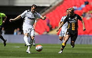 Rob Purdie (l) of Hereford FC scoring the opening goal  during the FA Vase Final at Wembley Stadium, London<br /> Picture by Simon Moore/Focus Images Ltd 07807 671782<br /> 22/05/2016