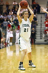 18 March 2011: Nikki Preston during an NCAA Womens basketball game between the Washington University Bears and the Illinois Wesleyan Titans at Shirk Center in Bloomington Illinois.