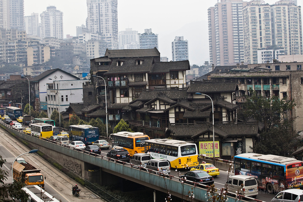 Traffic is seen in Chongqing , China, March 4, 2009.
