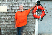 Portrait of a lobsterman, Spruce Head, Maine. Lobsterman Bill Colby in Spruce Head, Maine