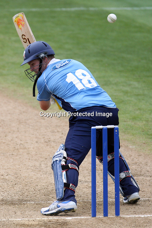 Colin Munro batting. Auckland Aces v Central Stags, One Day Cricket. Colin Maiden Park, Auckland, Wednesday 19 January 2011. Photo: Ella Brockelsby/photosport.co.nz