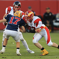 (Photograph by Bill Gerth/ for SVCN/6/24/17) Willow Glen #72 Ryan Puccio in the Charie Wedemeyer All Star Game at Levi Stadium, San Jose CA on 6/24/17. (North 13 South 13)