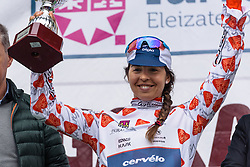 Carmen Small is the leader of the mountains classification - Emakumeen Bira 2016 Stage 1 - A 76.6km road stage starting and finishing in Eskoriatza, Spain on 14th April 2016.
