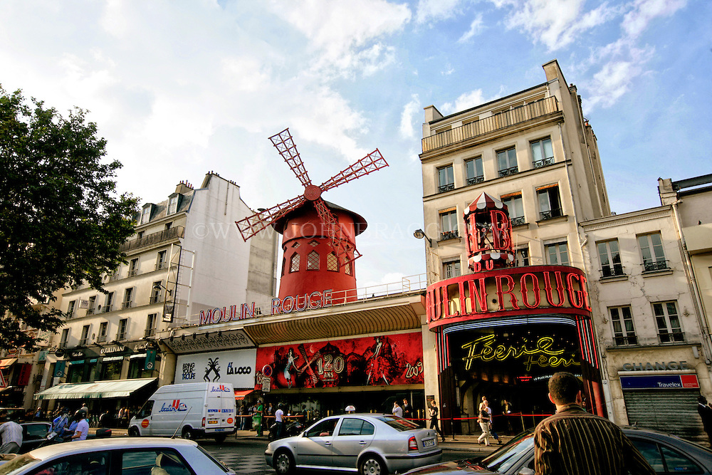 Moulin Rouge, the spiritual birthplace of the modern form of the can-can dance, Paris, France.