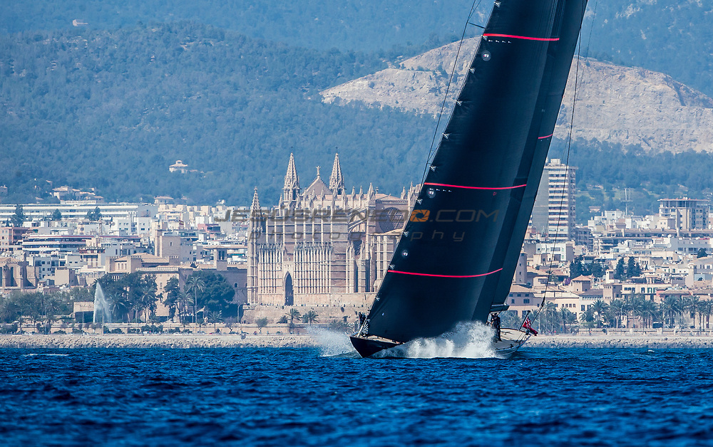 "From 24th March to 1st April the bay of Palma  host the 48th edition of the Trofeo Princesa Sofia IBEROSTAR, one of the most important Olympic Classes regatta in the world. Around a 800 sailors from 45 nations will meet in Mallorca to start the Olympic path towards Tokyo 2020, in one of the most international sports event and with a higher participation in Spain. Image free of editorial rights. © Jesús Renedo / Sailing Energy / Trofeo Princesa Sofía IBEROSTAR J Class ""Svea"" sea trials in Palma  March 2017"