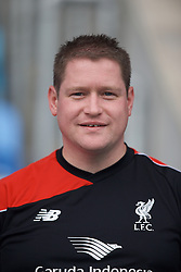 MANCHESTER, ENGLAND - Sunday, August 30, 2015: Liverpool manager Matt Beard during the League Cup Group 2 match at the Academy Stadium. (Pic by Paul Currie/Propaganda)