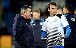 Leicester City Interim First Team Manager Craig Shakespeare speaks with Christian Fuchs of Leicester City - Mandatory by-line: Robbie Stephenson/JMP - 27/02/2017 - FOOTBALL - King Power Stadium - Leicester, England - Leicester City v Liverpool - Premier League