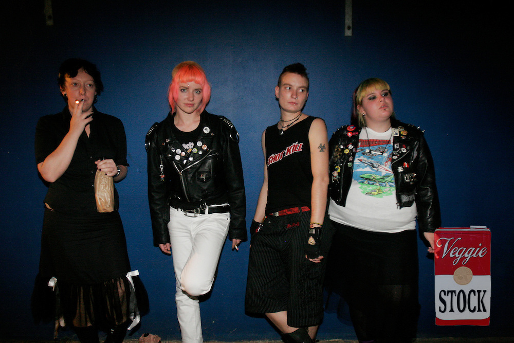 All girl Sydney punk band Bite The Kurb, June 2007.