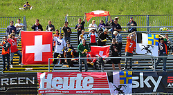 08.05.2011, Hohe Warte, Wien, AUT, EFL Viertelfinale, Raiffeisen Vikings vs Calanda Broncos, im Bild Fans der Calanda Broncos,  EXPA Pictures © 2011, PhotoCredit: EXPA/ T. Haumer