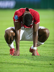 Fred Friday of AZ during the UEFA Europa League second round qualifying match between AZ Alkmaar and FC Kairat at the AFAS stadium on August 02, 2018 in Alkmaar, The Netherlands